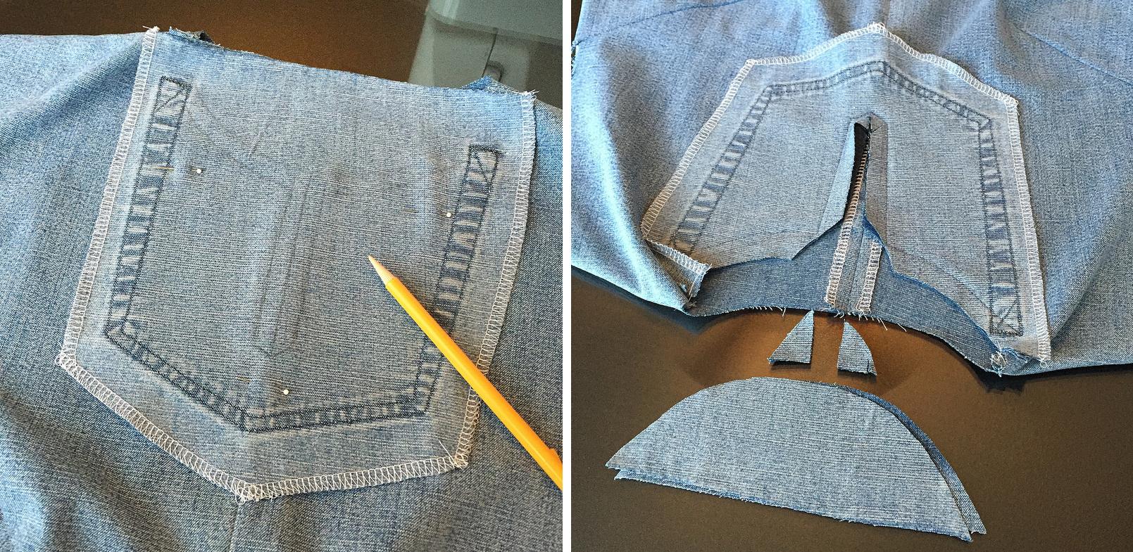 Como hacer blusas modelo túnica con jeans reciclados ¡Perfecta para el verano!9
