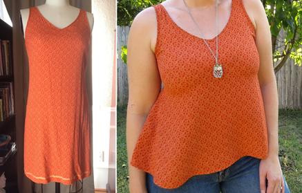 Como hacer tops ligeros con vestidos largos reciclados ¡Perfectos para este verano!1