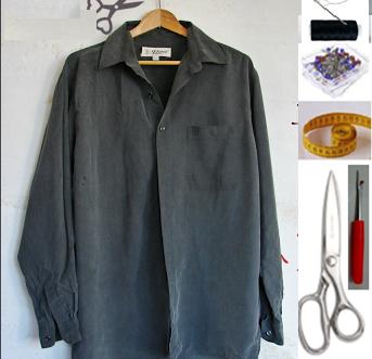 Como hacer vestidos ligeros con camisas masculinas ¡Perfectos para este verano!2