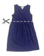 Como hacer coquetos vestidos para embarazadas con ropa reciclada4