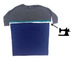 Como hacer coquetos vestidos para embarazadas con ropa reciclada5