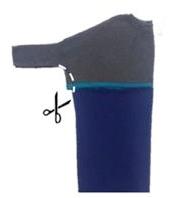 Como hacer coquetos vestidos para embarazadas con ropa reciclada6