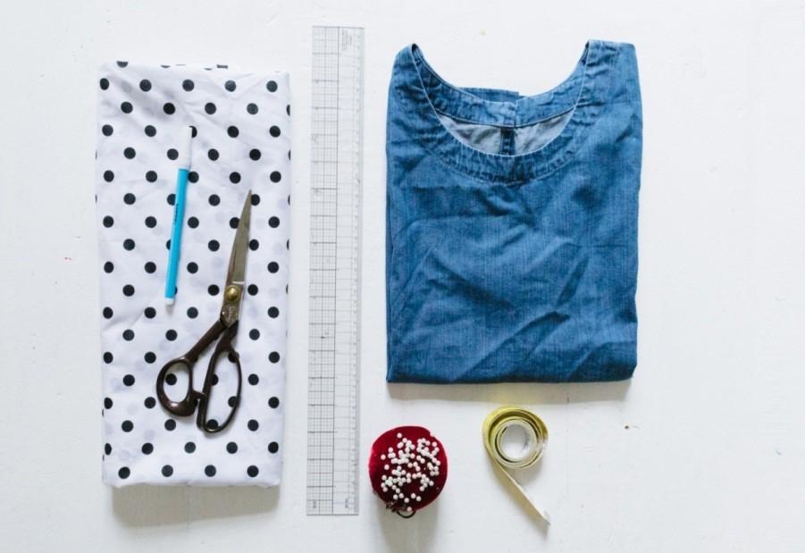 Como hacer camisas con nudo delantero y mangas enterizas en simples pasos2
