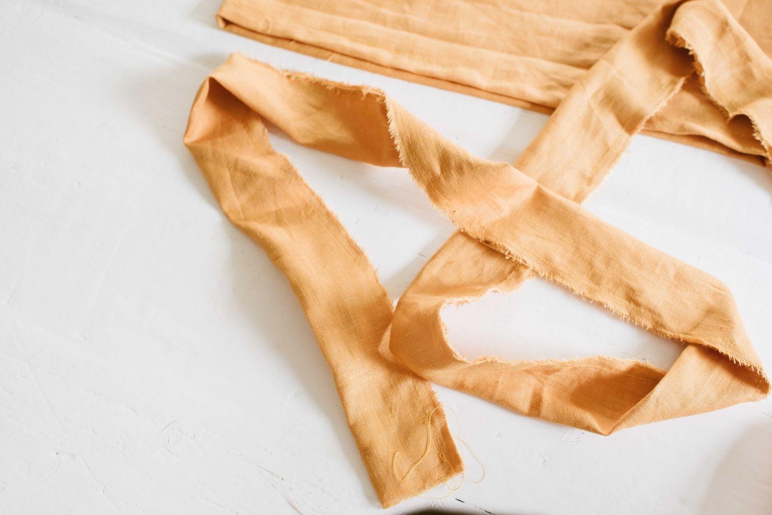 Como hacer tops con tiras para anudar en lino ¡Costuras perfectas para principiantes!4