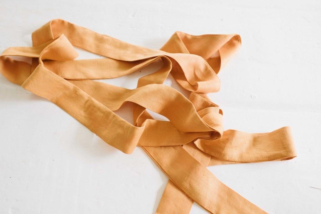 Como hacer tops con tiras para anudar en lino ¡Costuras perfectas para principiantes!5