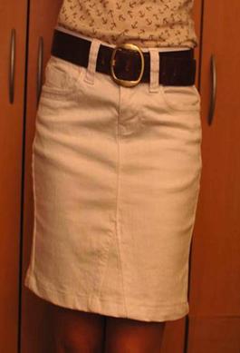 Como convertir un pantalón jean en una hermosa falda para el invierno5
