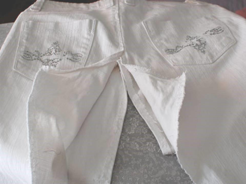 Como convertir un pantalón jean en una hermosa falda para el invierno6