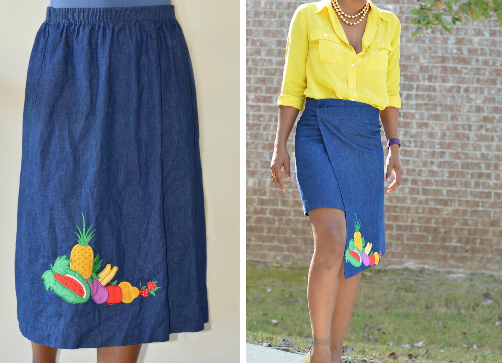 Como hacer faldas asimétricas preciosas con viejas faldas largas 1
