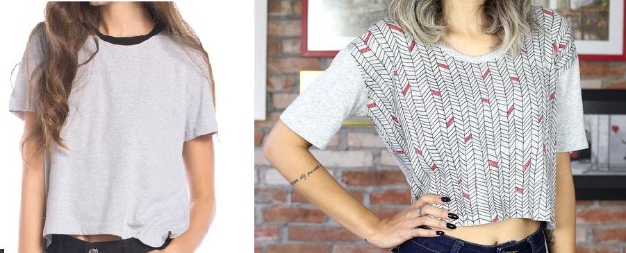 Como transformar camisetas en tops personalizados1