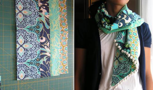 Como hacer bufandas preciosas con retazos de tela reciclados1