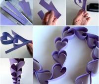 Como hacer cadena de corazones