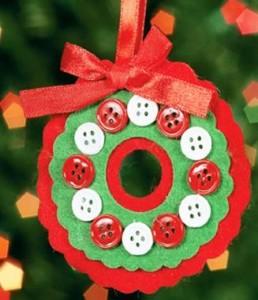 Manualidad con botones como para la navidad