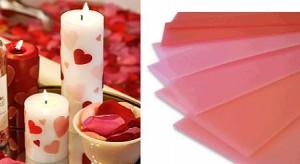 Como hacer velas decorados con corazones