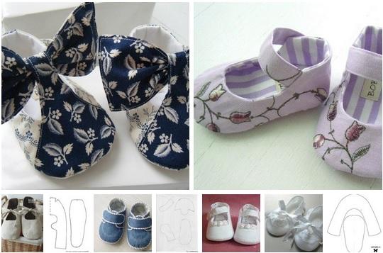 moldes para hacer zapatitos para bebes