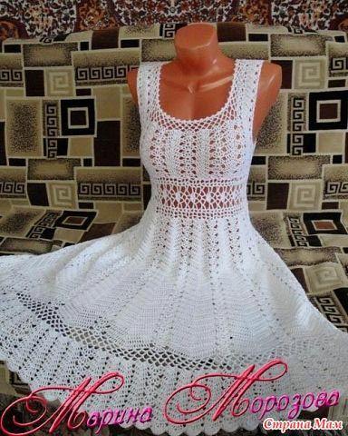 Molde para hacer un vestido sencillo a crochet