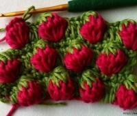 como hacer punto fresa a crochet