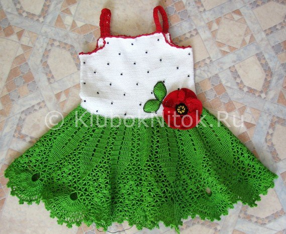 vestidos para bebe a ganchillo patrones