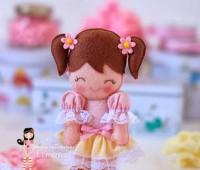 ideas para hacer muñecas de fieltro