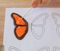 como hacer una mariposa de chocolate