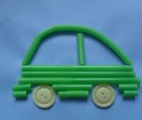 manualidades para el kinder carritos con popotes