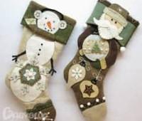 Moldes para hacer botas navideñas de fieltro gratis