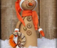 Moldes y Patrones  de muñecos de nieve country en tela