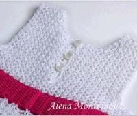 Patron gratis para hacer un vestido a crochet para niña