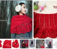 Patron para hacer un chal tejido a crochet para invierno