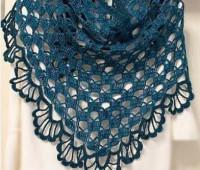 Patron para hacer un chal triangular a crochet