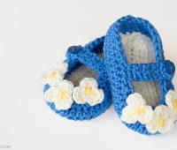 Zapatitos tejidos a crochet paso a paso con patron