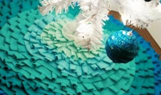 15 ideas para hacer un pie de arbol navideño11