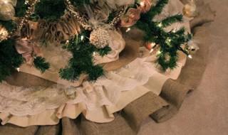 15 ideas para hacer un pie de arbol navideño12
