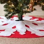 15 ideas para hacer un pie de arbol navideño14