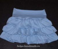 Como hacer una falda con olanes paso a paso