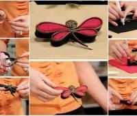 Cómo hacer una libélula cremallera Pin – DIY