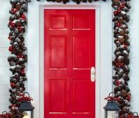 Ideas para decorar puertas en navidad