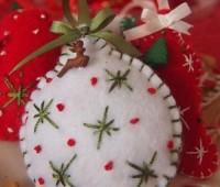 Molde para hacer esferas navideñas de fieltro