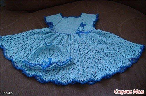 Vestidos tejidos de crochet para nina