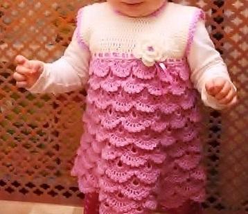 Patron para hacer un vestido y bolero a crochet para niña