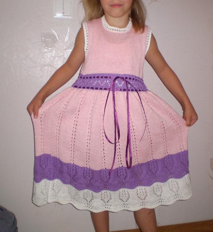 modelos gratis para tejer un vestido a crochet para niña