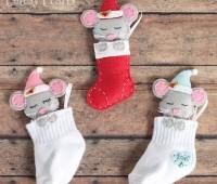 Como hacer ratones navideños con moldes