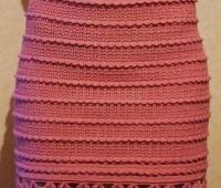 Como tejer una falda pegada a crochet para dama