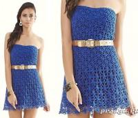 Como tejer un vestido strapless a crochet