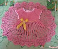 Ideas para tejer vestidos a crochet para niñas