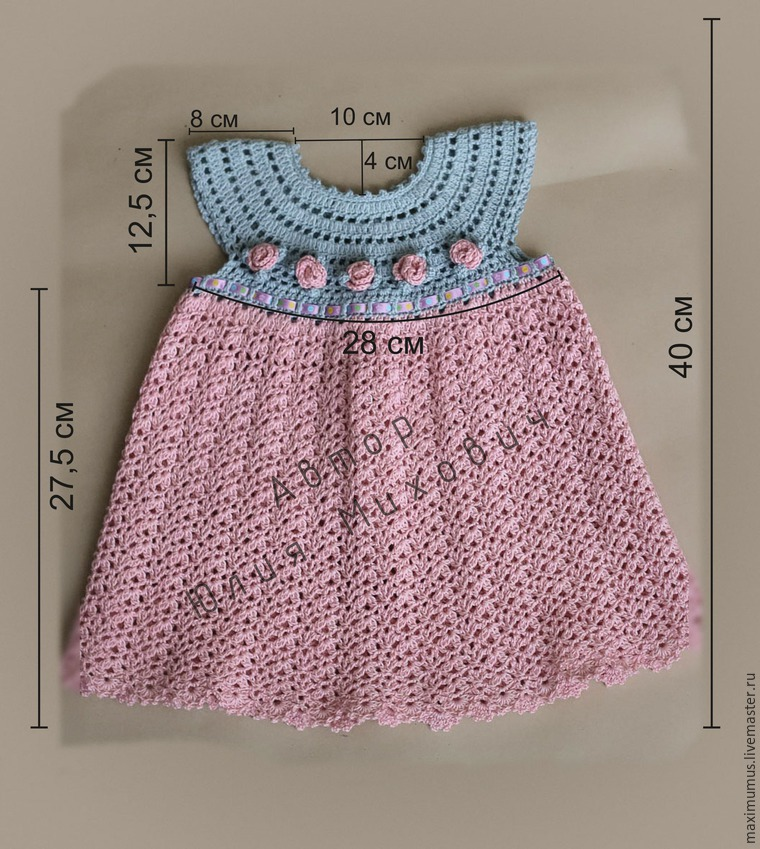 Modelos para hacer bonito vestido a crochet para niñas