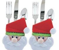 Moldes para hacer portacubiertos navideños en fieltro