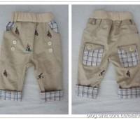idea para hacer un pantalon para bebe