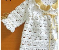 idea para tejer una chambrita a crochet para bebe