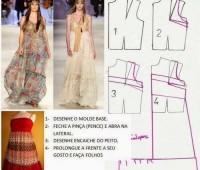 Patrones de vestidos holgados casuales gratis