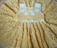 Vestido circular para niña con esquema